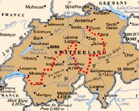 Bike ride across switzerland  From Zurich to the Montreux Jazz Festival