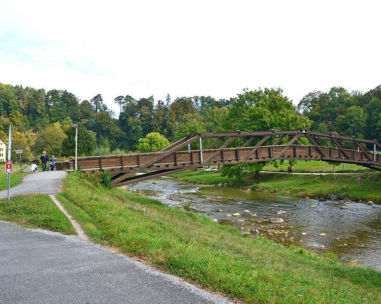 Holzbrücke bei Leimbach