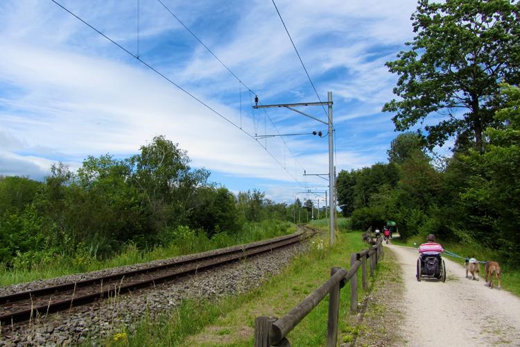 Weg neben Eisenbahn