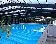Swimming bath Les Trois Lacs camp site Sugiez