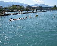 Schwäbis river bathing place Thun
