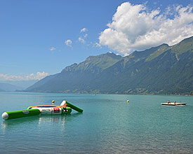 Beach bathing place Brienz
